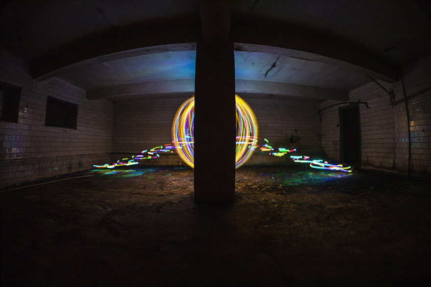 Urbex lightpainting